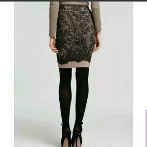 BCBG Scarlett Pencil lace bodycon skirt